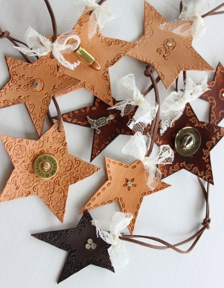 fancyewe leather star ornament assortment